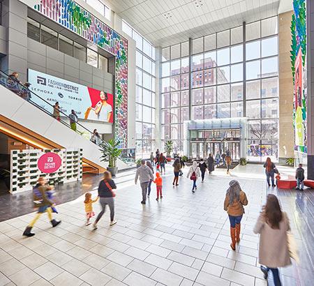 Interior of Fashion District Philadelphia
