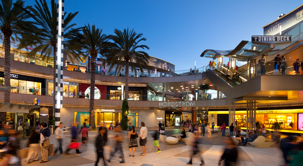 Shoppers in Center Court at Santa Monica Place