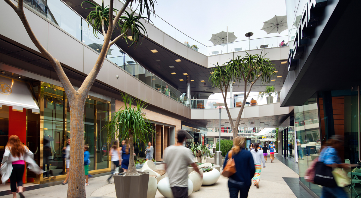 A corridor at Santa Monica Place