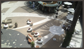 Overhead view of Center Court at Santa Monica Place