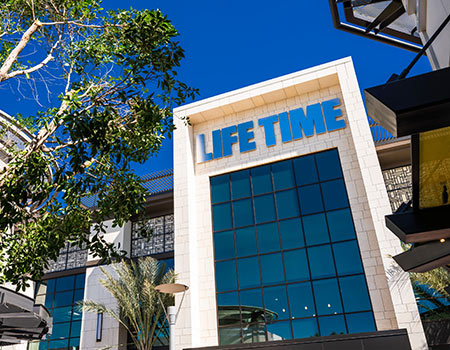 Exterior entrance of Life Time