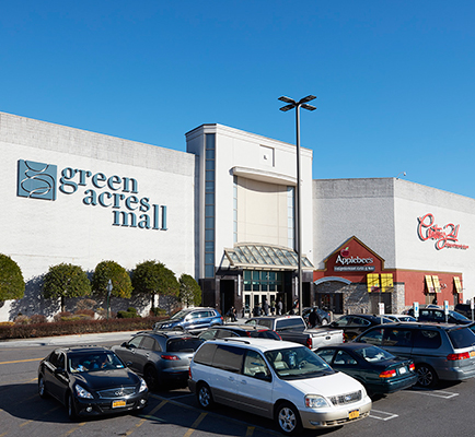 Green Acres Mall's exterior and parking lot