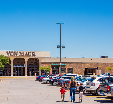 NorthPark Mall's exterior and parking lot