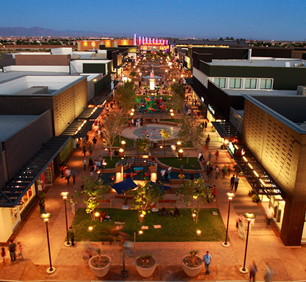 Image of SanTan Village at night