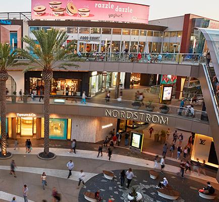 Santa Monica Place's center court area