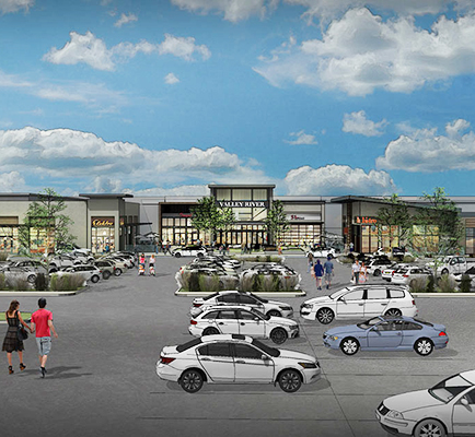 Image of Valley River Center redevelopment rendering