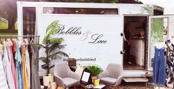 Bobbles & Lace Fashion Truck setup
