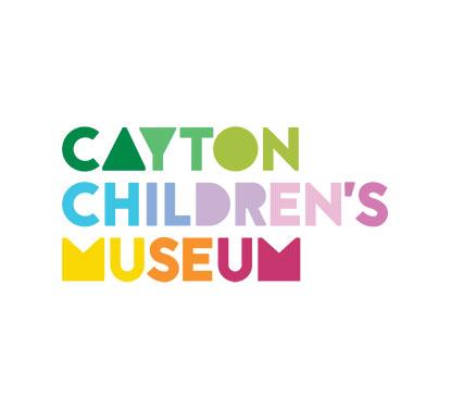 Cayton Children's Museum logo rendered in rainbow colors