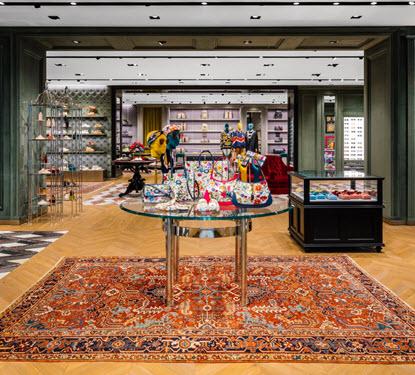 Image of Interior Gucci Store