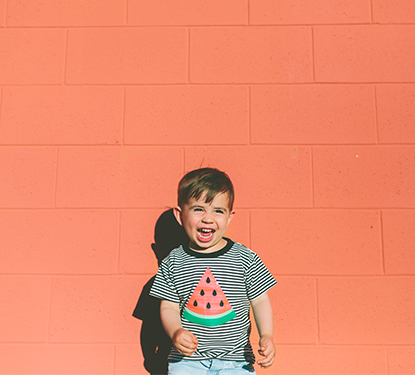 Image of boy in watermelon shirt