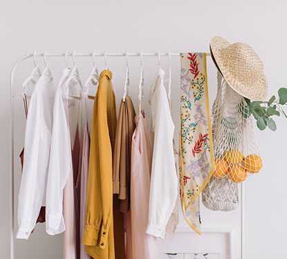 rack of clothes on display