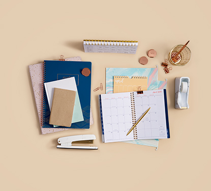 Image of calendar and office supplies