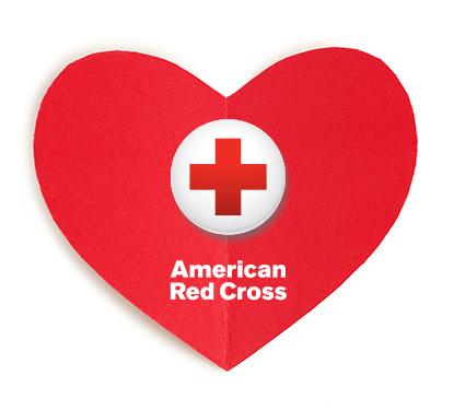 American Red Cross logo in a heart