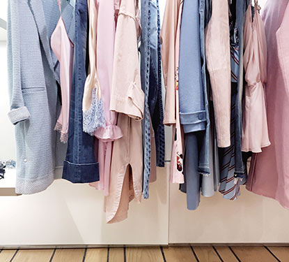 Women's clothes hanging on a rack