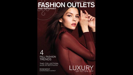 Fall Shopping Guide Cover, model wearing red top