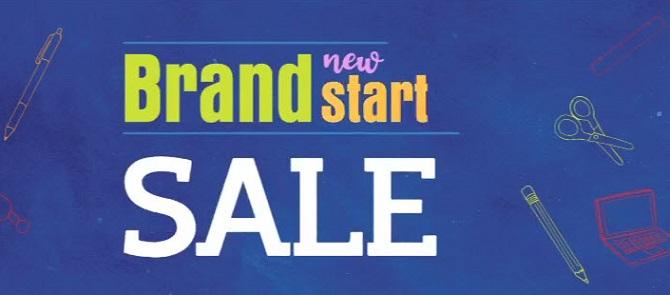 brand new start sale