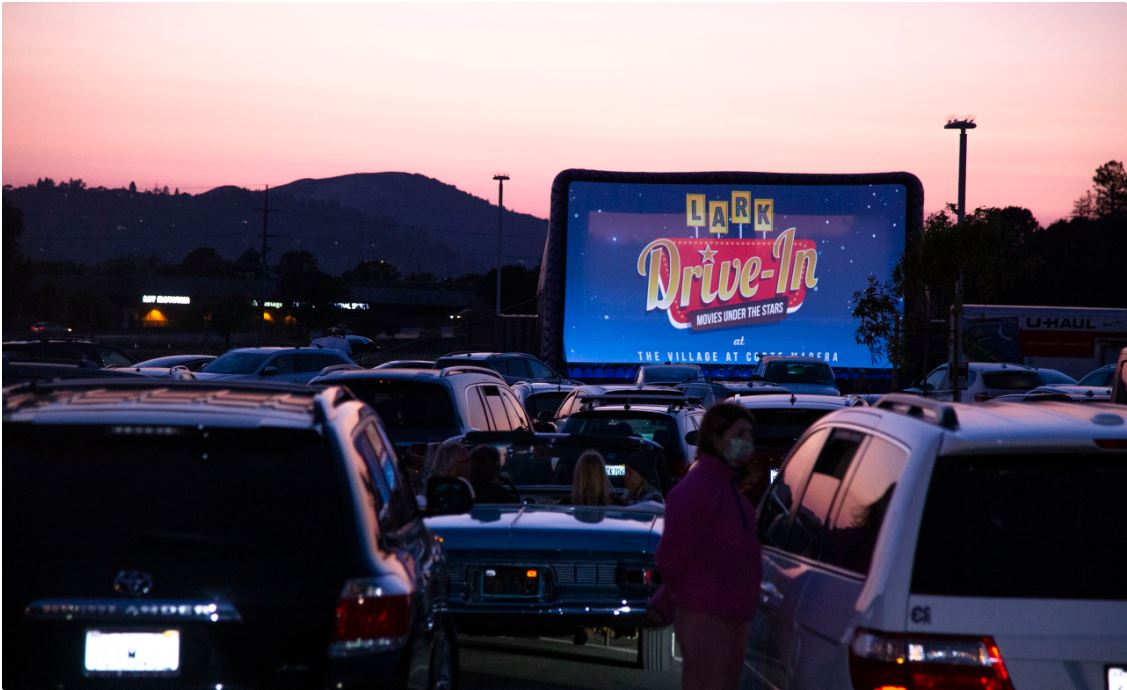 Drive in movie events at the Village