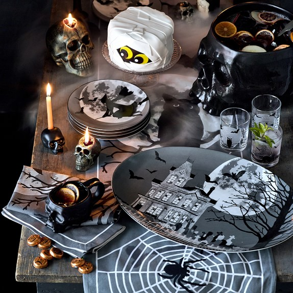 Image of a halloween table setting