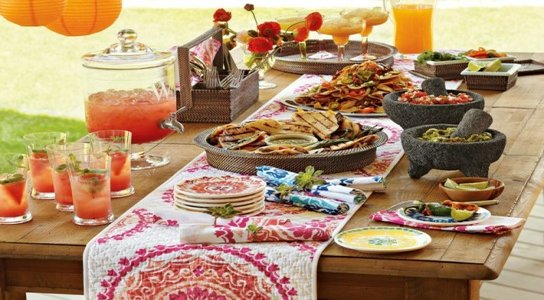 Image of Cinco de Mayo inspired dishes and table setting