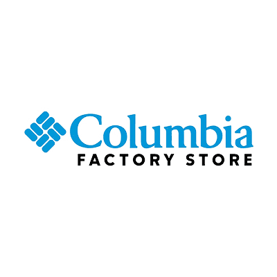 Columbia Factory Store logo on gray background