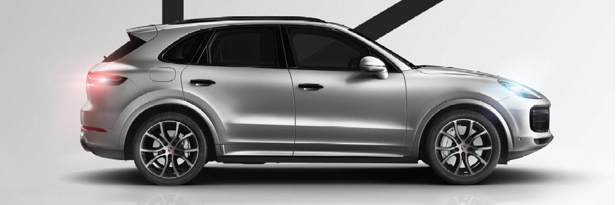 Silver Porsche SUV