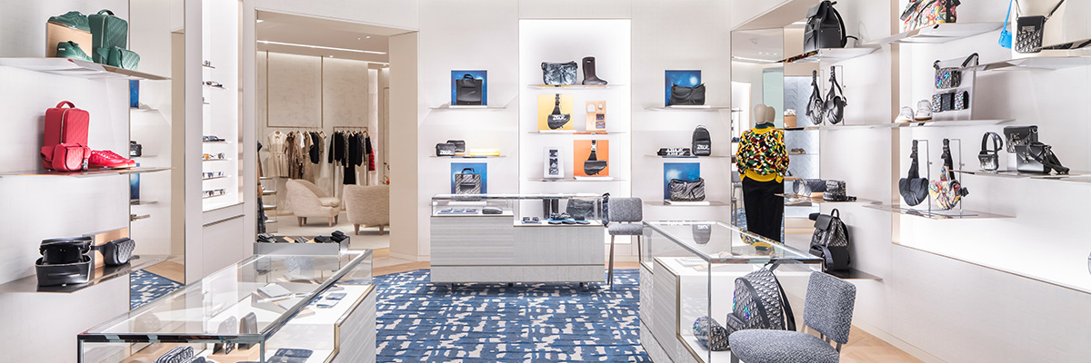 A view inside Dior's store