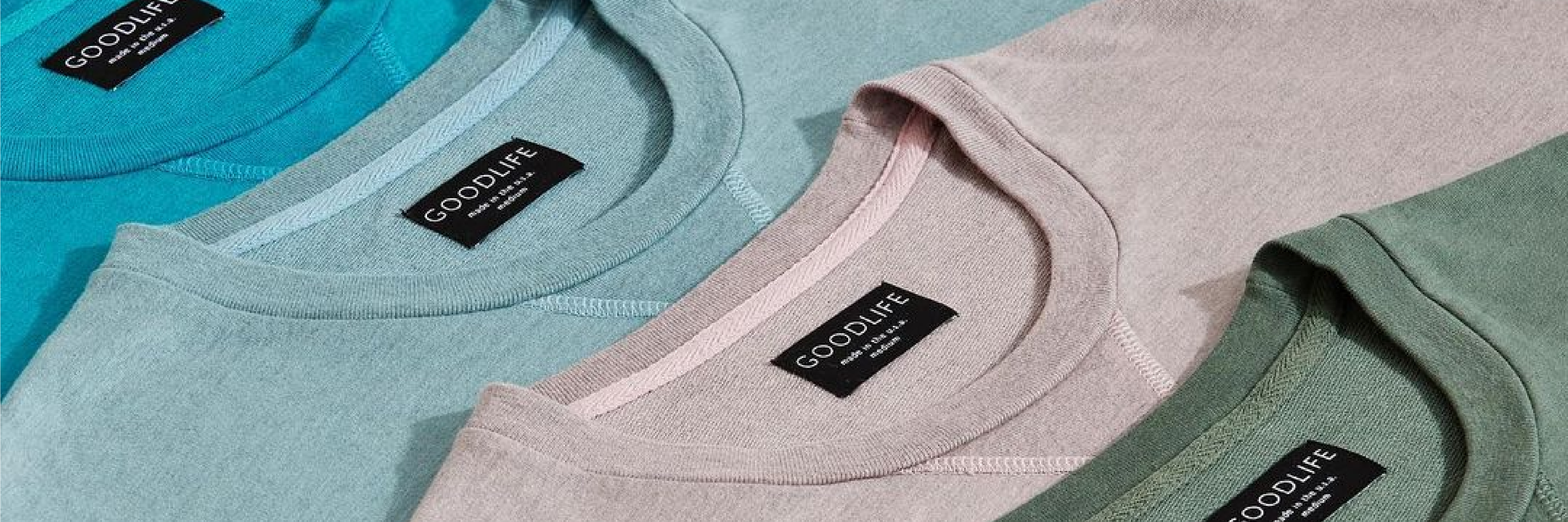 blue gray and green t shirts