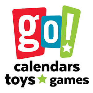 Go! Calendars Go! Games Go! Toys Go! Books Logo