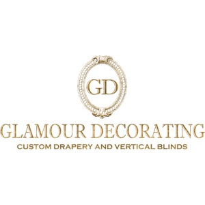 Glamour Decorating Custom Drapery and Vertical Blinds
