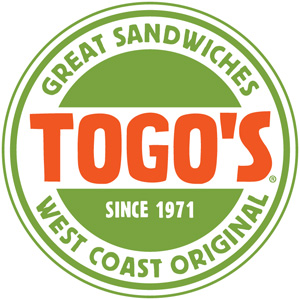 TOGO'S Since 1971. Great Sandwiches, West Coast Original.